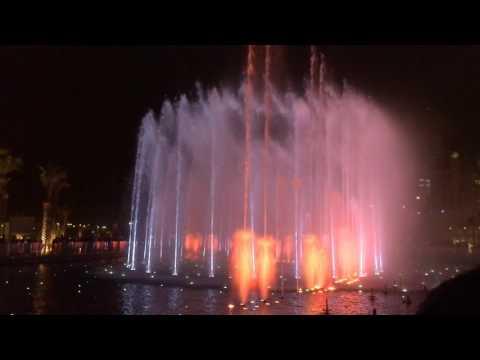 Kuwait Dancing fountain (slowmotion) | نافورة الكويت الراقصة