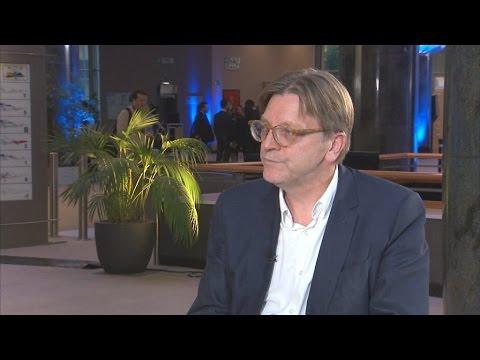 """Guy Verhofstadt, """" Face aux Britanniques, on ne peut dissocier les différents types de libertés..."""