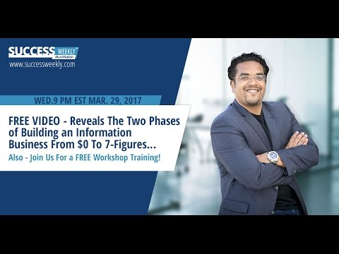 FREE VIDEO - Reveals The Two Phases of Building an Information Business From $0 To 7-Figures...