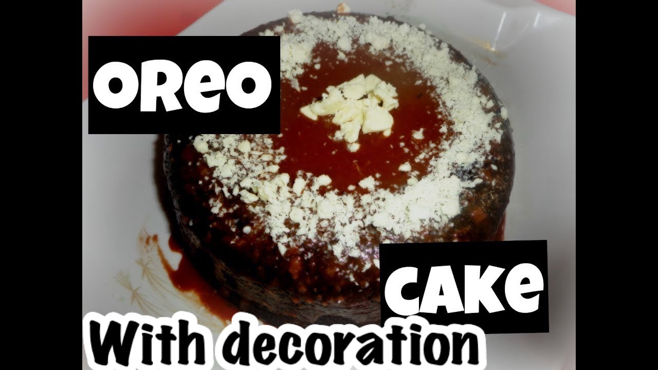 3 ingredients eggless oreo cake without oven super easy for How to make home cake without oven