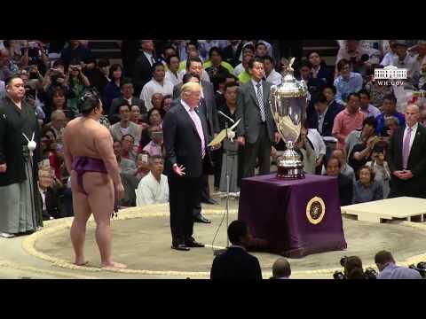 Trevor Carey - President Trump Attends Sumo Wrestling Match in Japan