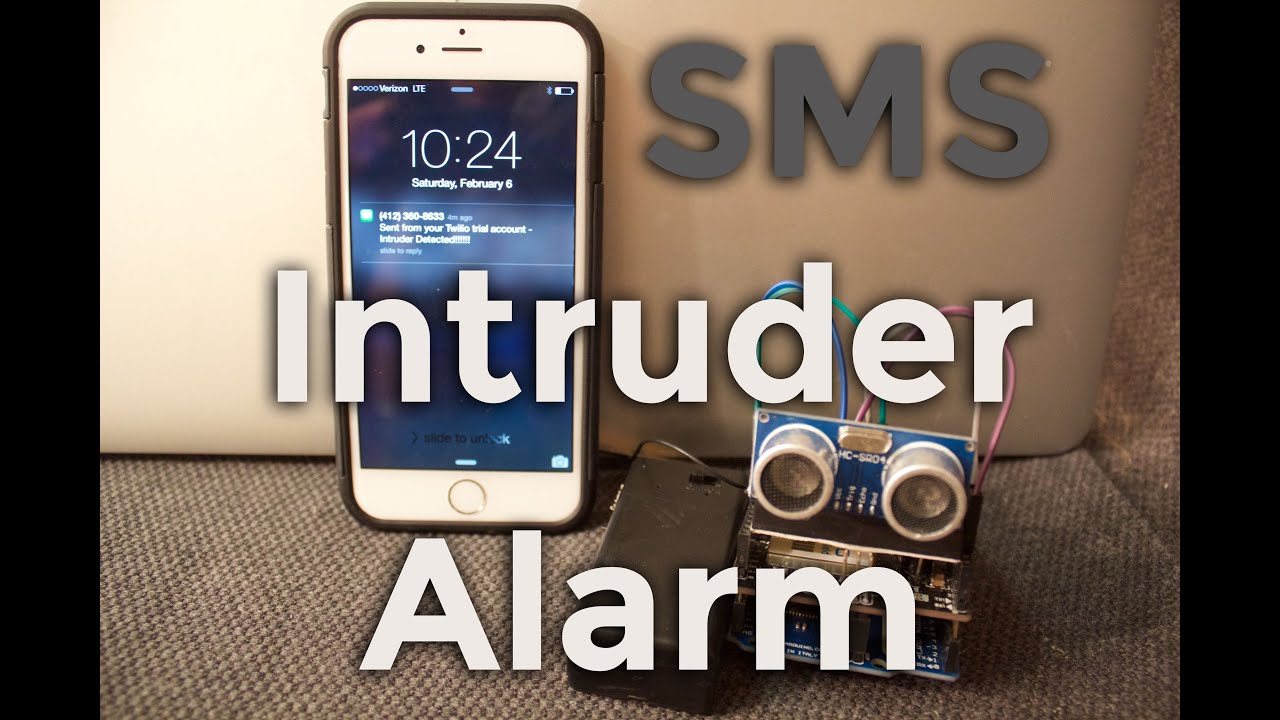 diy arduino motion detector that sends text message alert tutorial beginners youtube
