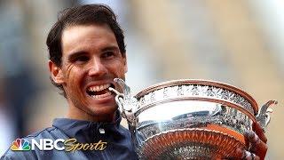 2019 French Open: Rafael Nadal celebrates winning 12th title | NBC Sports