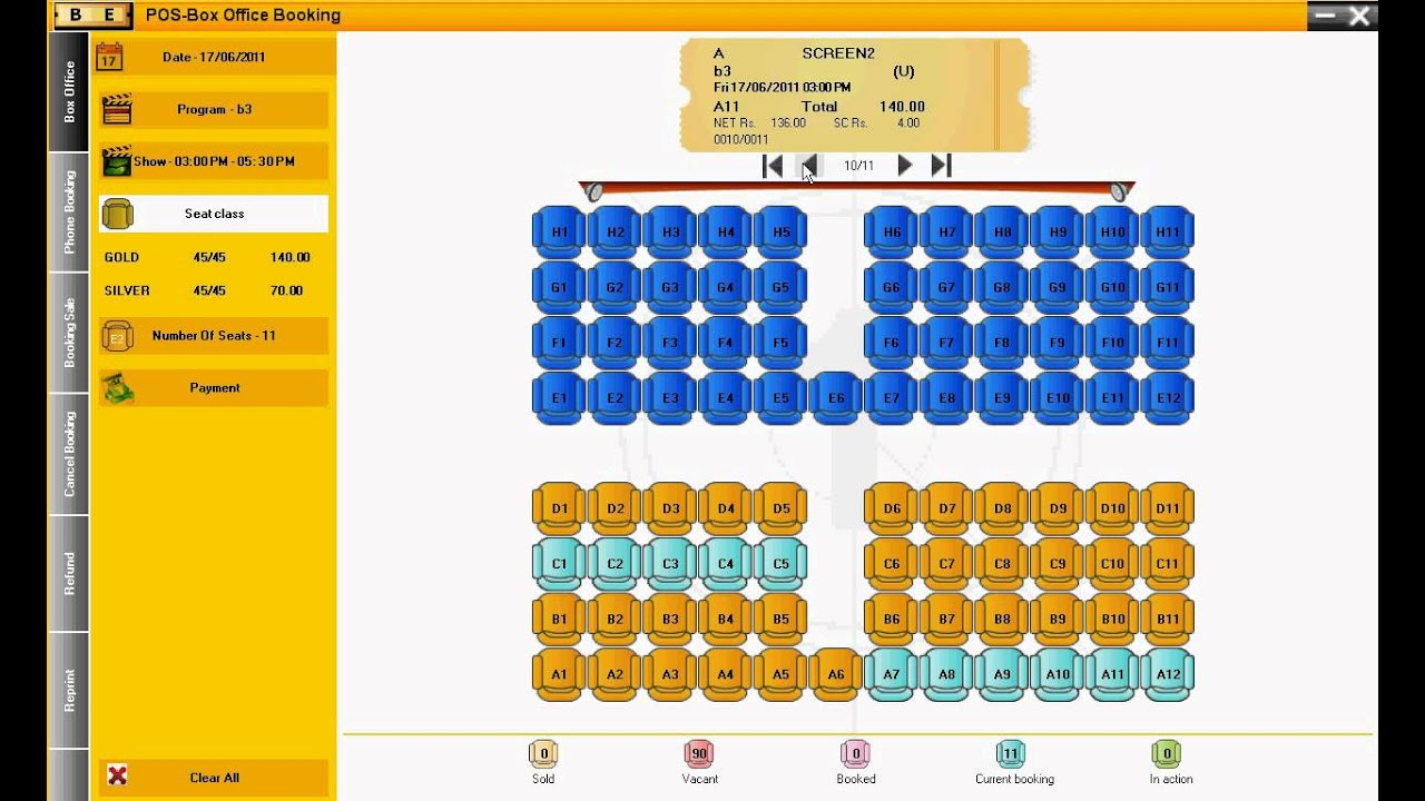 multiplex theater online booking system Coding for booking ticket cinema in java toggle price per theatre is made without using database and awt system is multiplex cinema ticket booking.
