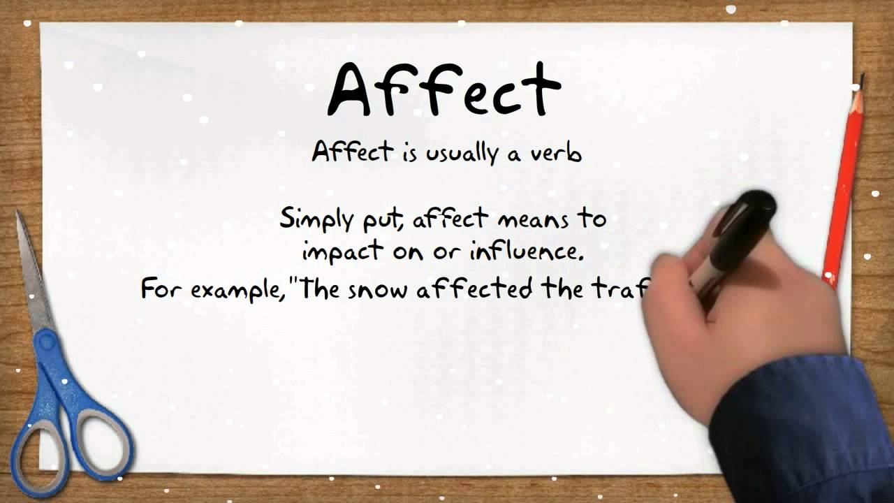 An Easy Way To Remember The Difference Between 'Affect' And ...