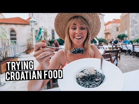 We Tried Traditional Croatian Food | Black Squid Ink Risotto!