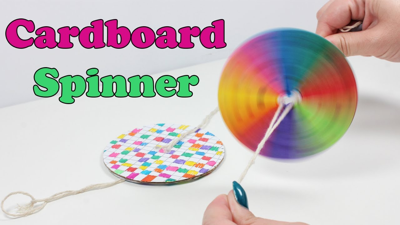 Cardboard Spinner Diy Summer Kids Crafts Youtube
