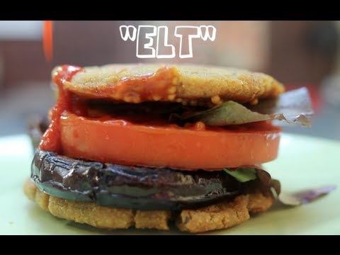 Superfood ELT better than the BLT Recipe!! Eggplant Lettuce Tomato Sandwich. (Gluten Free, Vegan)