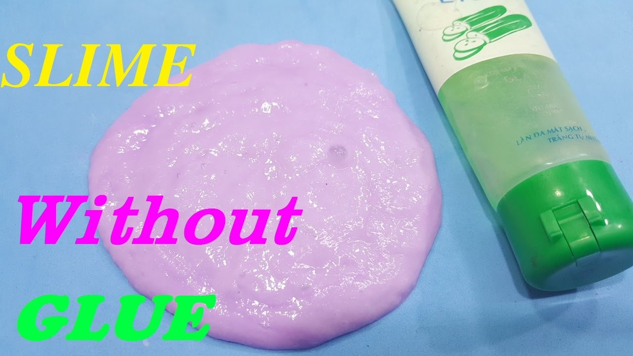 How To Make Slime Without Glue Okay Easy !! Diy Slime No Glue