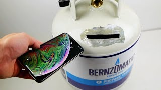 Filling Up a Propane Tank with iPhone XS Inside - What Happens?