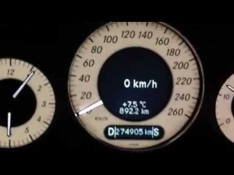 Mercedes E320 CDI W211 204PS acceleration 0-130 KM/H by necet eski
