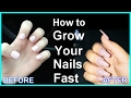 How to Grow Long Nails, Growing nails out, Make your nails Stronger in A Week