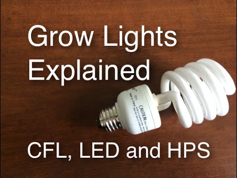 Grow Lights Explained Cfl Led And Hps Easy And Cheap To Efficient And Expensive Youtube