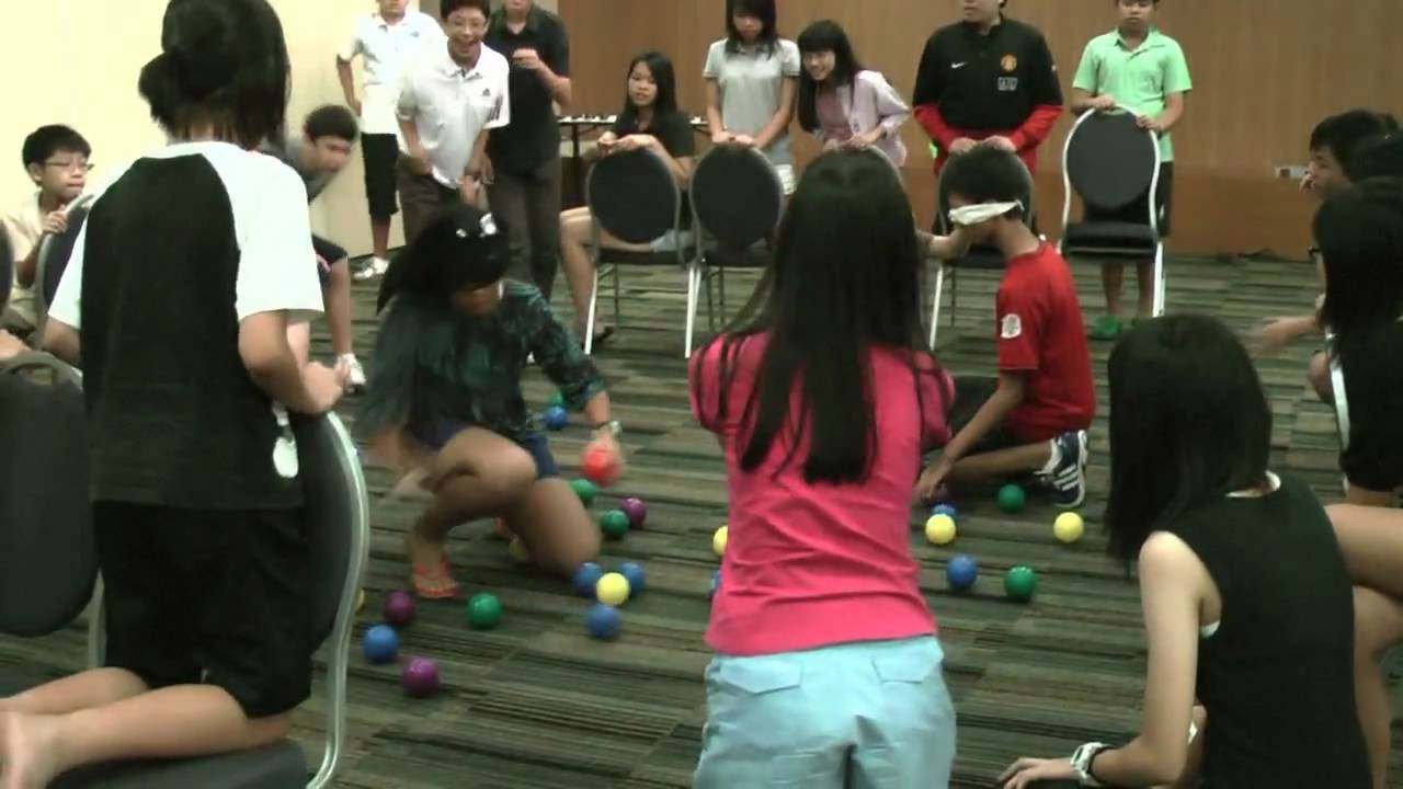 Blindfold Find The Balls Game Youtube