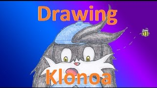 How to draw Klonoa, timelapse