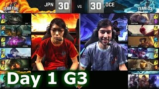 Japan vs Oceania | 2016 LoL IWC All-Stars in Barcelona Group Stage Day 1 | FIRE vs ICE
