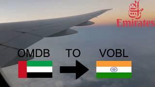 Emirates EK564 Dubai to Bangalore Boeing 777-300ER A6-EGG