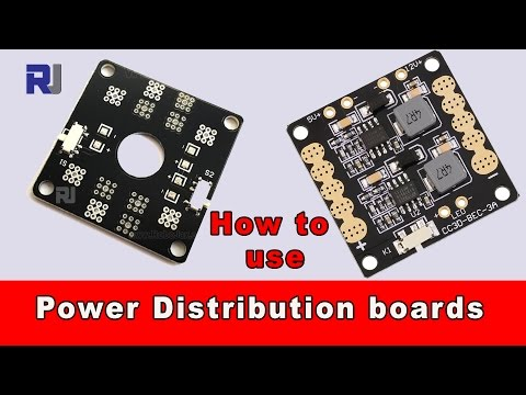 Drone Power Distribution board PDB explained