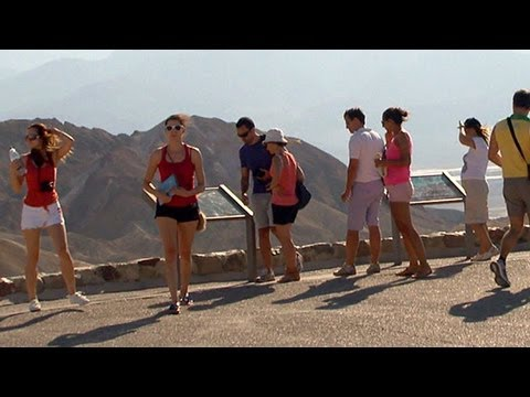 'Heat Tourists' Flock to Death Valley, Utah's Wave