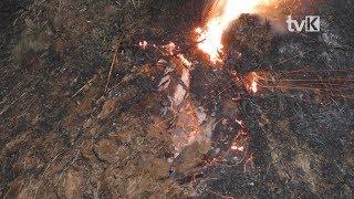 Pożar lasu w Międzygórzu