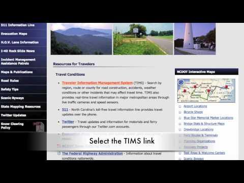TUTORIAL - NCDOT's Live Traffic Cameras