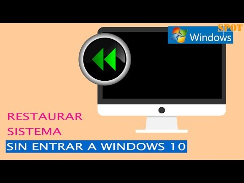Cómo restaurar el sistema sin entrar a Windows 10