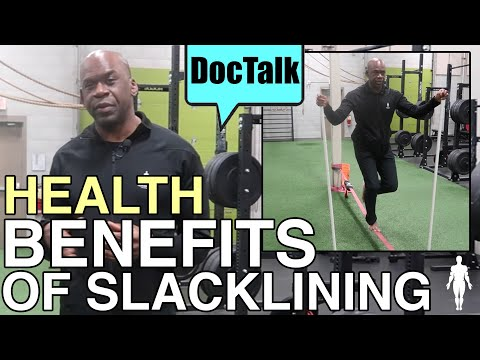 HEALTH BENEFITS OF SLACKLINING: Quad Activation & Leg Strength With Dr. Chris | Human 2.0
