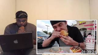 In N Out burger 4x4x4 Challenge Will He Fail
