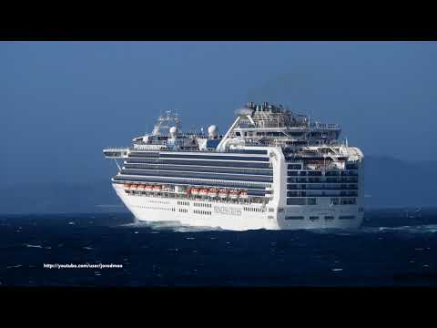 Cruise Ship SAPPHIRE PRINCESS departure from A Coruña [4K]