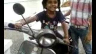4 Year Old Girl Riding Chetak Scooter - Original Video