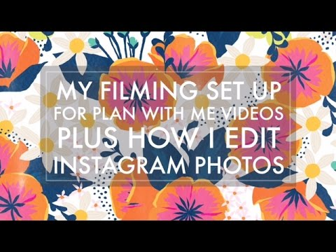 How To Film Videos With IPhone Pt. 2 // Plan With Me Filming Set Up + How I Edit Instagram Photos