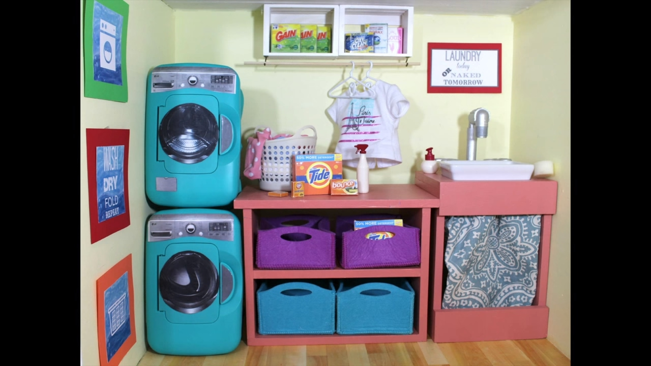 Diy American Girl Doll Washing Machine Youtube