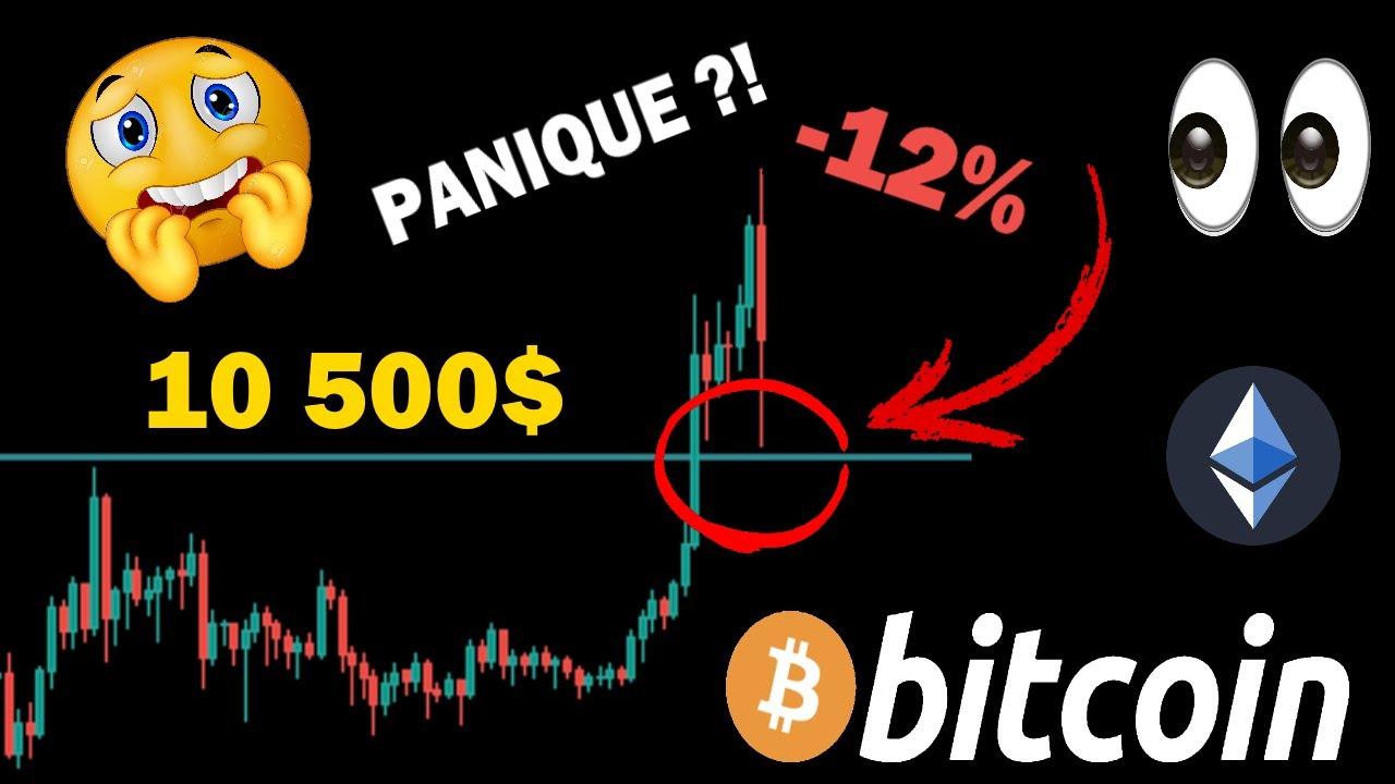 BITCOIN GROSSE CHUTE -12% ? PANIQUE OU OPPORTUNITÉ ?! + ETHEREUM analyse crypto monnaie fr
