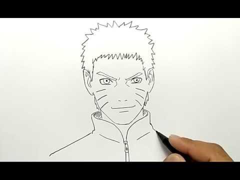 Cara Menggambar Naruto Hokage Ke7 Mudah Dan Cepat Youtube