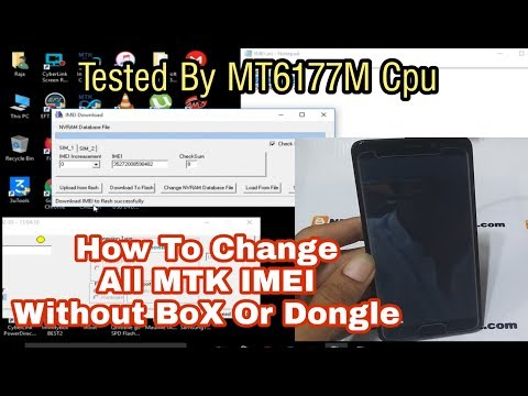 How To Change IMEI All MTK Cpu Without Box Tested By MT6177M Done..
