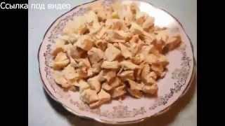 Салаты, Салат из курицы с сыром и сухариками