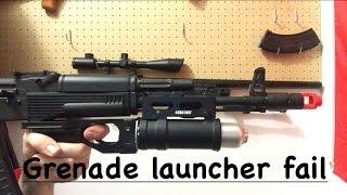 Lancer Tactical AK Grenade Launcher Shooting Demo Fail