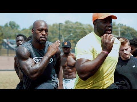 NFL Tight End Vernon Davis - Off Season Track Training