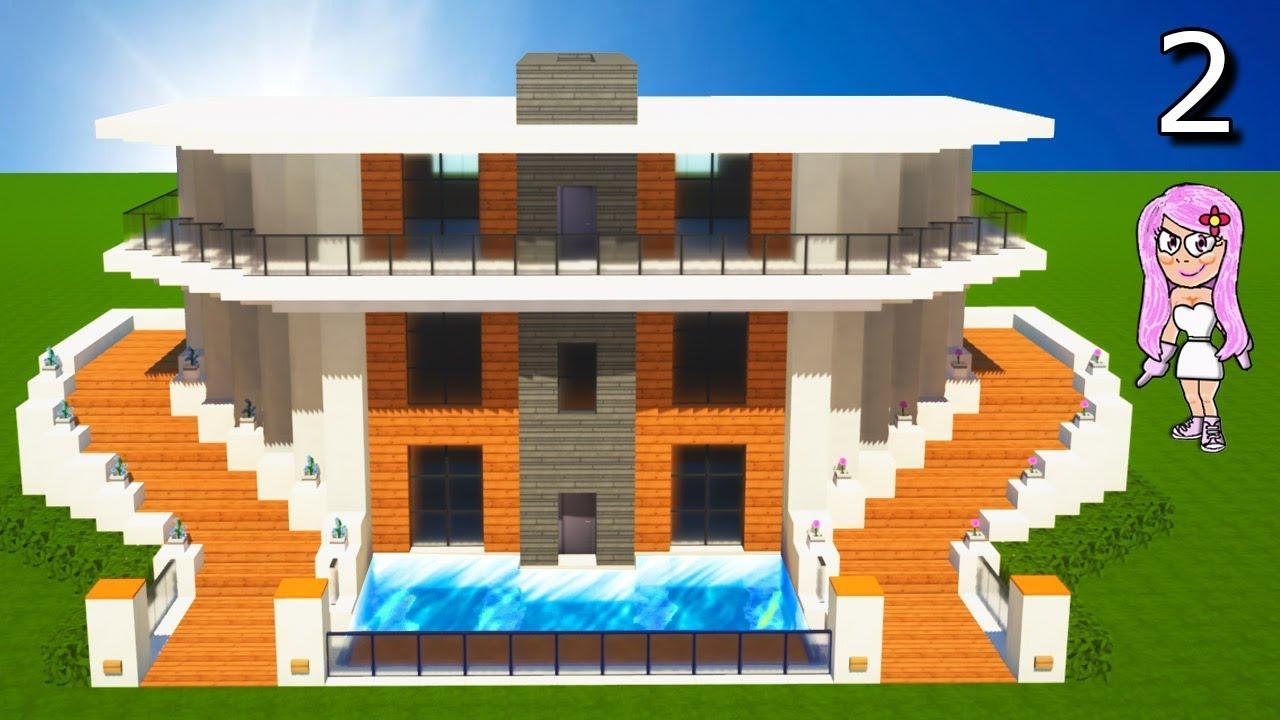 Casa moderna 11 en minecraft c mo hacer y decorar parte 2 for Casa moderna 1 11 2