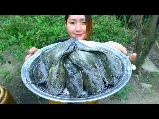 Yummy Catfish Cooking Cucumber Pickle - Catfish Grilling Recipe - Cooking With Sros