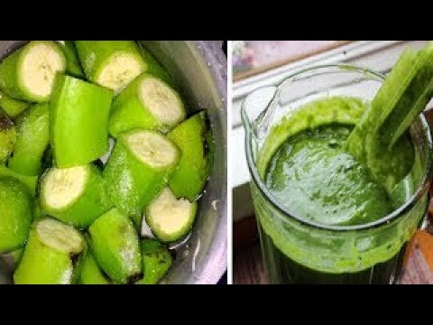 This Green Banana Mixture Will Control DIABETES And Reduce Your Cholesterol Levels