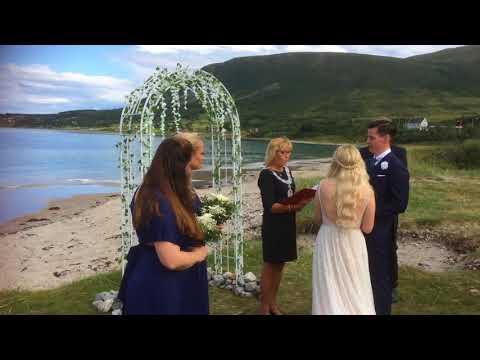 Bryllup på stranda