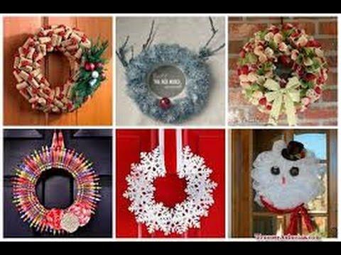 ideas para colgar en tu puerta de navidad 50 arreglos que