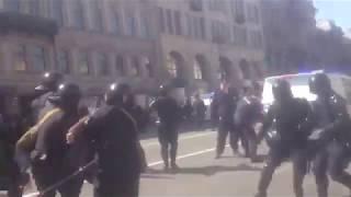 Смотреть видео 1 Мая 2019г  Санкт Петербург Разгон демонстрации..! часть1 онлайн
