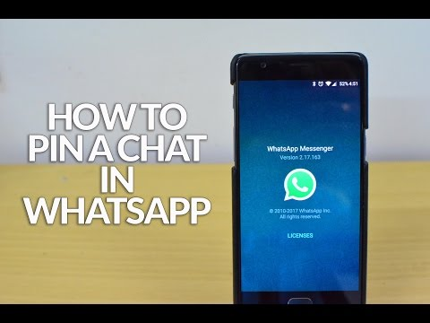 How To Pin A Chat/ Conversation In WhatsApp For Android