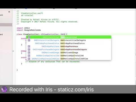 Xcode 8 - How to add google Admob fullscreen Ads (Swift 3 Programming)
