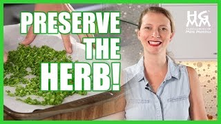 3 Ways to Preserve Fresh Herbs For Cooking