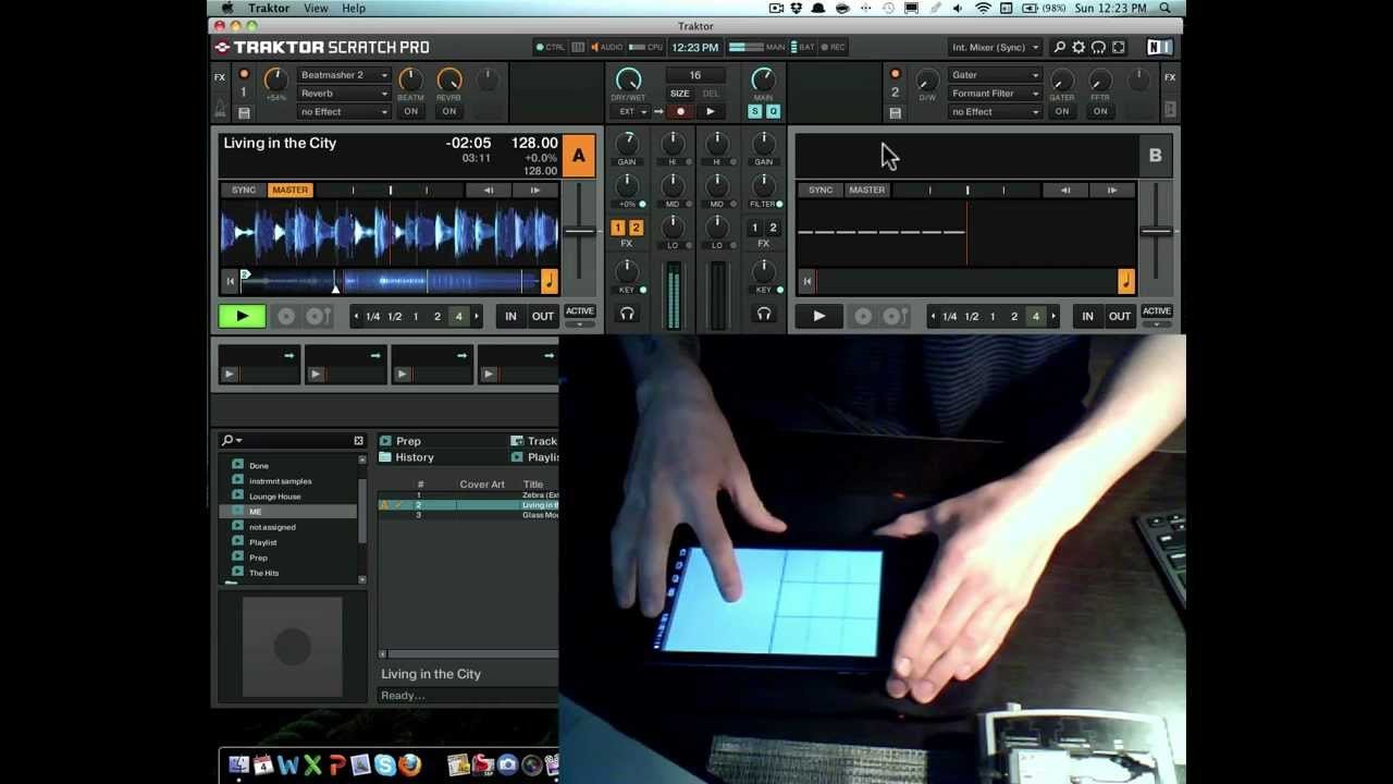 android tablet as wireless midi controller for traktor 2 using touchdaw youtube. Black Bedroom Furniture Sets. Home Design Ideas