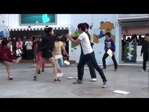 Shuffle mix martial art (tricking)