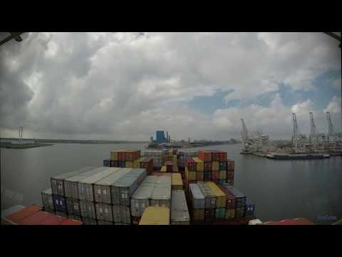 Time-lapse - arrival at Rotterdam (Netherlands) [4K]